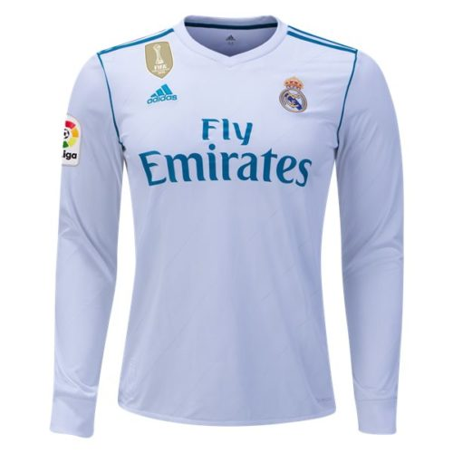 Jersey Real Madrid Home Long Sleeve 2017-2018