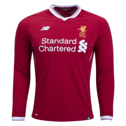 Jersey Liverpool Home Long Sleeve 2017-2018