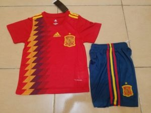 Jersey Spanyol Home Kids World Cup 2018