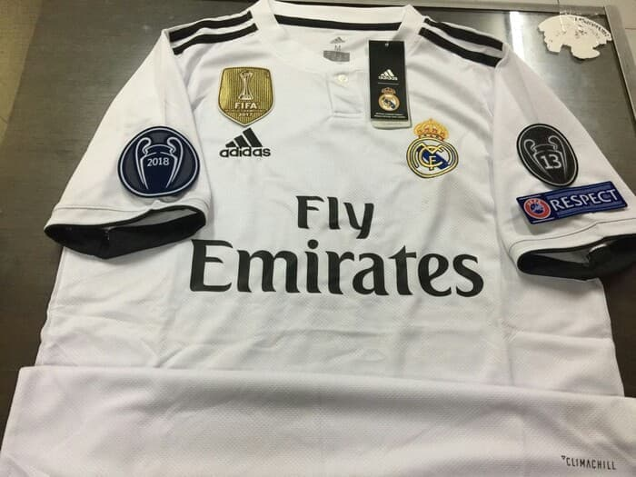 572b53985 Jersey Real Madrid Home 2018-2019 Full Patch - Jersey Bola Grade Ori ...